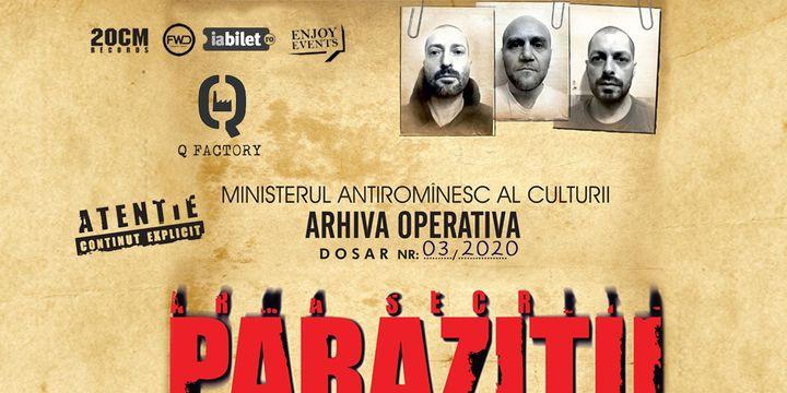 Amanat: Parazitii / 3 aprilie / Kruhnen Musik Halle - Brașov, | PartyBeep