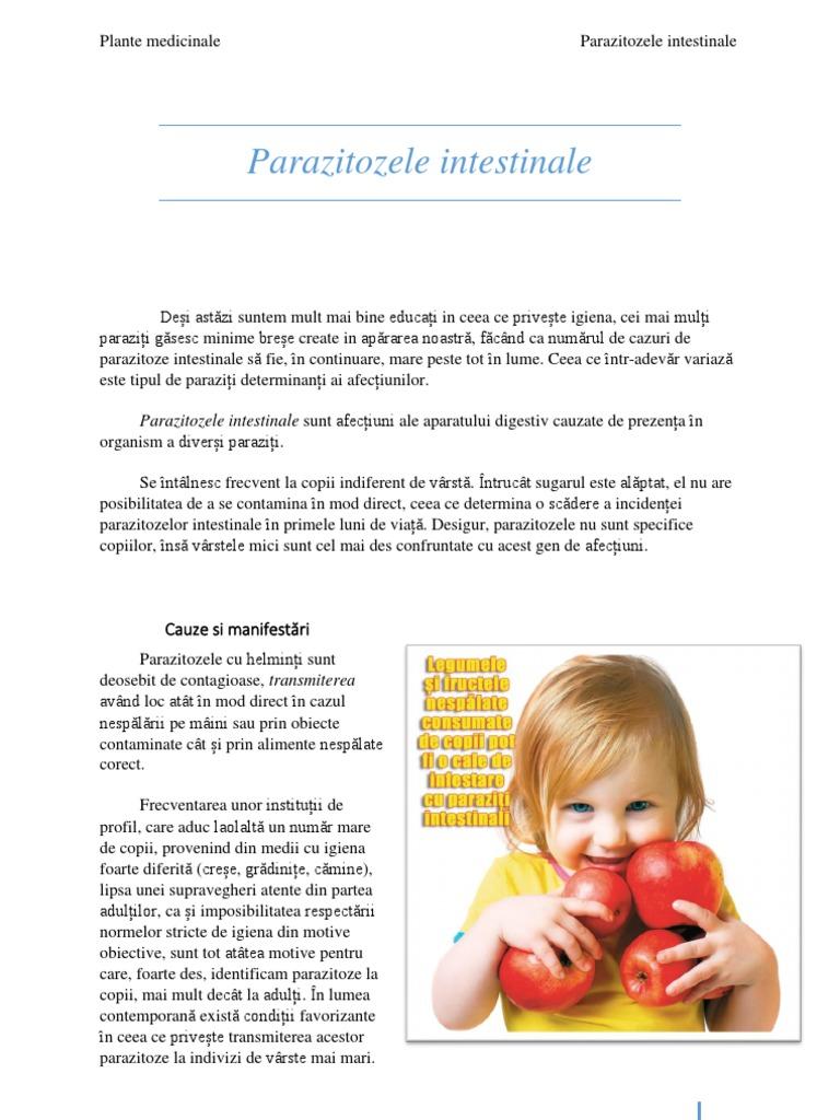 paraziți din organism atunci când tratați copii