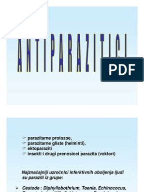 medicamente antiparazitare pentru viermi