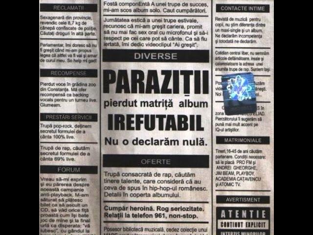 oferte de paraziti)