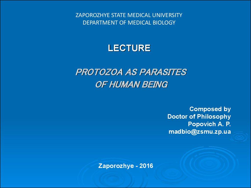 parazitele protozoare ppt